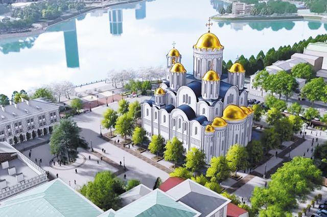 Проект храма святой Екатерины на ул. Горького, 17.