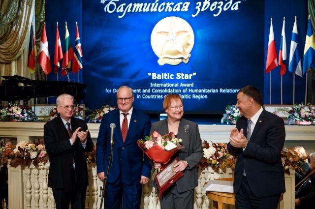 7 октября в Санкт-Петербурге прошла XVI церемония вручения Международной премии за развитие и укрепление культурных связей в странах Балтийского региона «Балтийская звезда».
