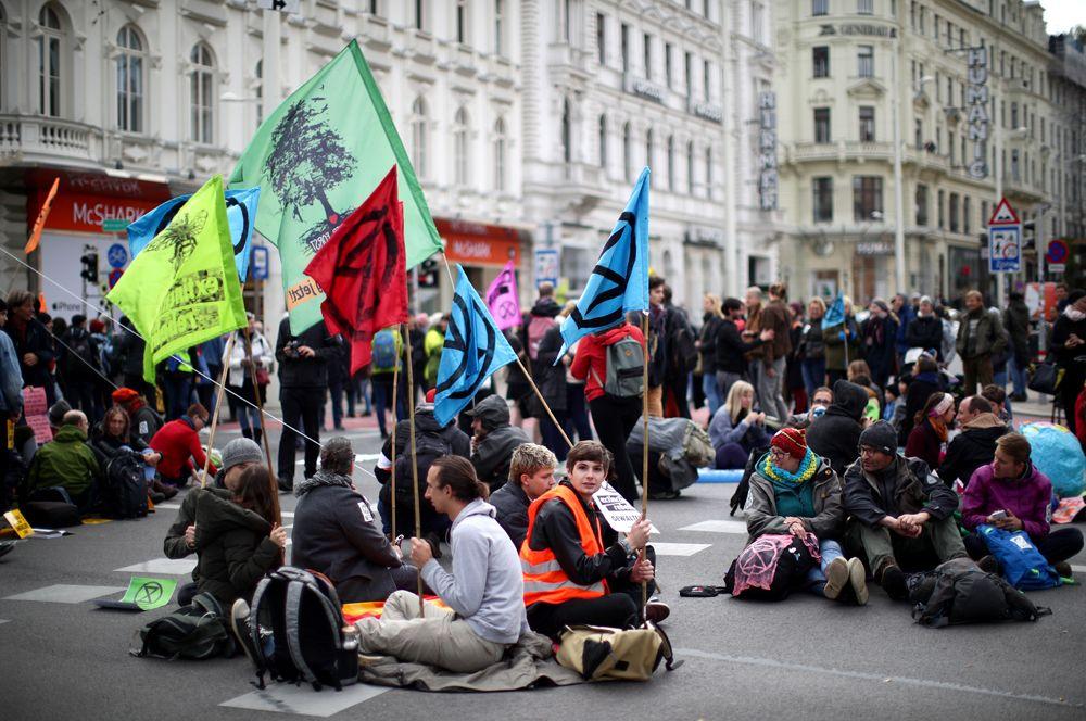 Протесты в Вене.