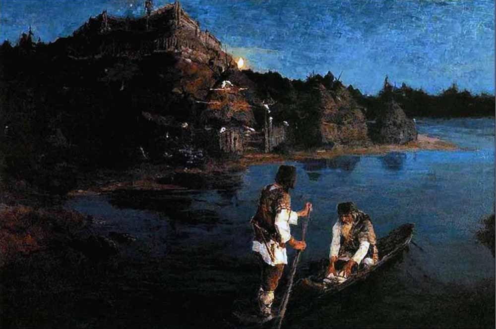 «Гонец (Восстал род на род)» (1897).