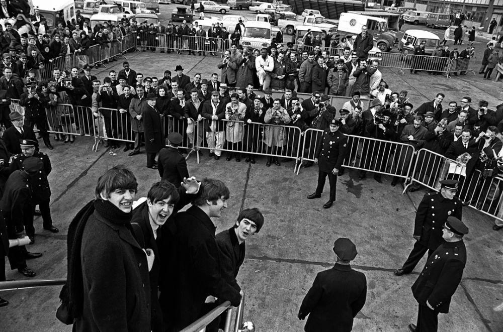 Прибытие в аэропорт имени Джона Кеннеди. Нью-Йорк. 7 февраля, 1964