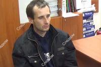 Допрос подозреваемого в убийстве девочки в Саратове.