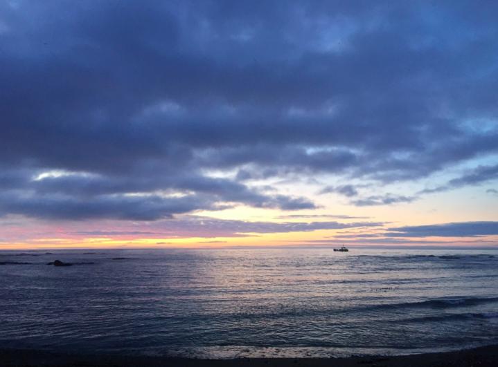 Рассвет на острове Уруп