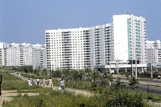 Строгино - новый район города. 1983 год.
