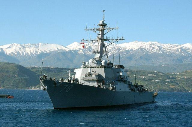 Ракетный эсминец США зашел в порт Одессы