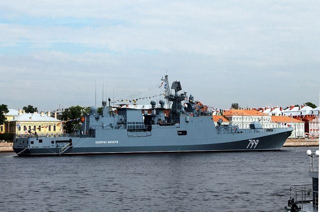 В Средиземном море прошли учебные стрельбы фрегата «Адмирал Макаров»