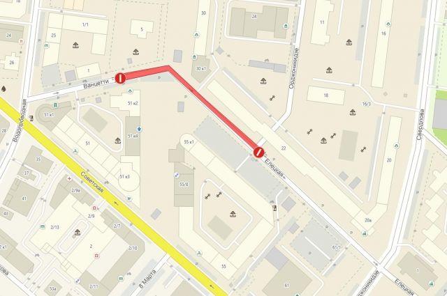 На улице Ванцетти в Тюмени с 15 октября ограничат движение транспорта