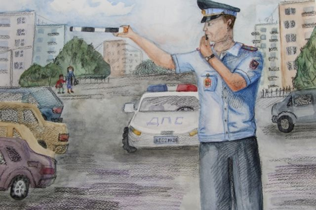 Подросткам предлагается рассказать, какой они видят службу родителей в полиции.