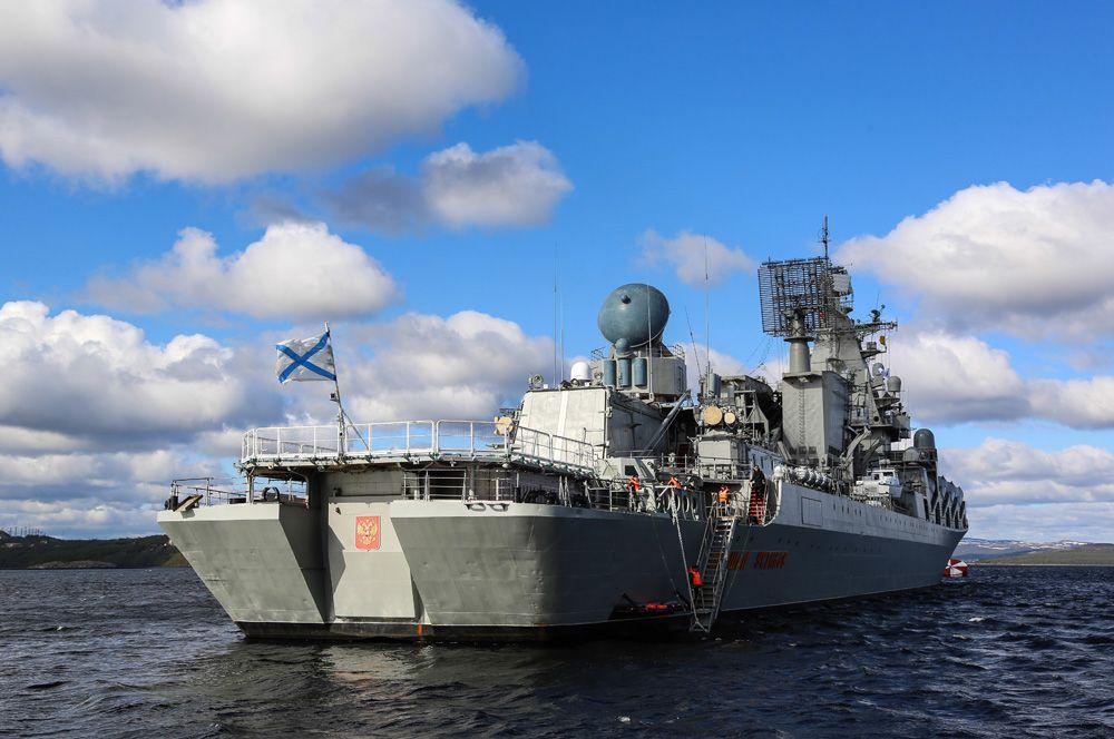 «Маршал Устинов» — еще один корабль проекта, входит в состав Северного флота.