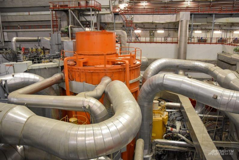 Сердце четвертого энергоблока - реактор БН-800.