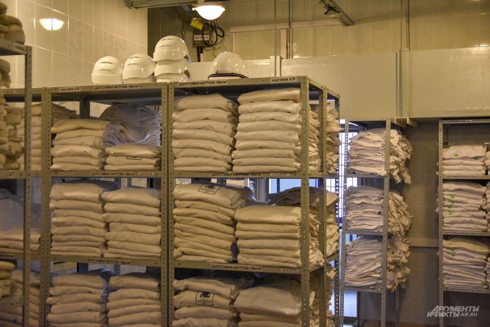 В «грязном» отделении санпропускника вам выдадут белье.