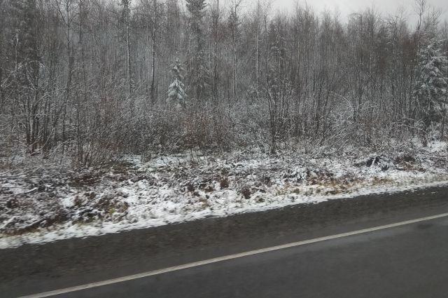 Очевидцы рассказали, что из-за снегопада произошло ДТП.