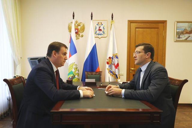Дмитрий Патрушев и Глеб Никитин
