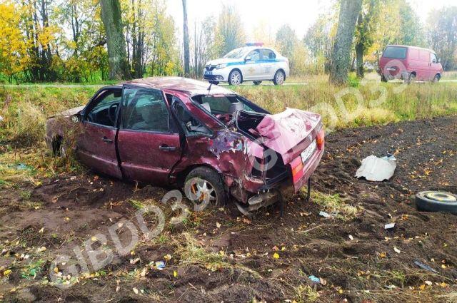 Водитель получил травмы в ДТП из-за превышения скорости