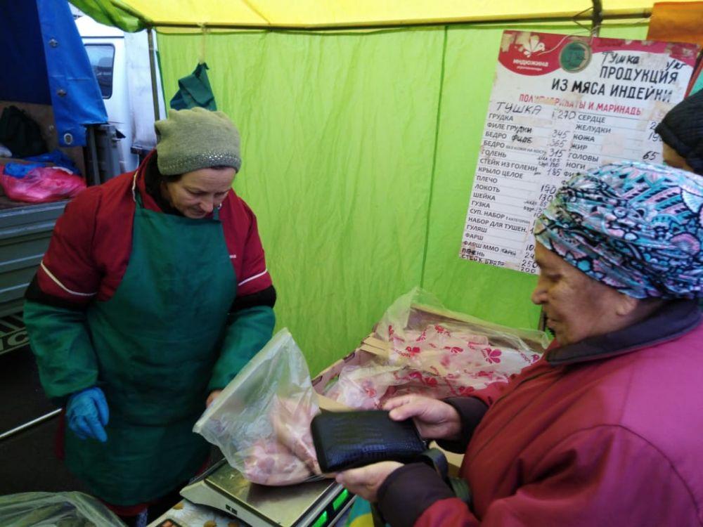 Тушка индейки стоит 270 руб./кг, филе - 345 руб./кг., суповой набор - 100 руб.