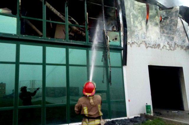 В Одесской области произошел пожар на предприятии по переработке чеснока