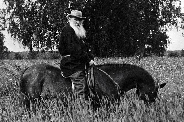 Писатель на прогулке верхом. 1908 г.