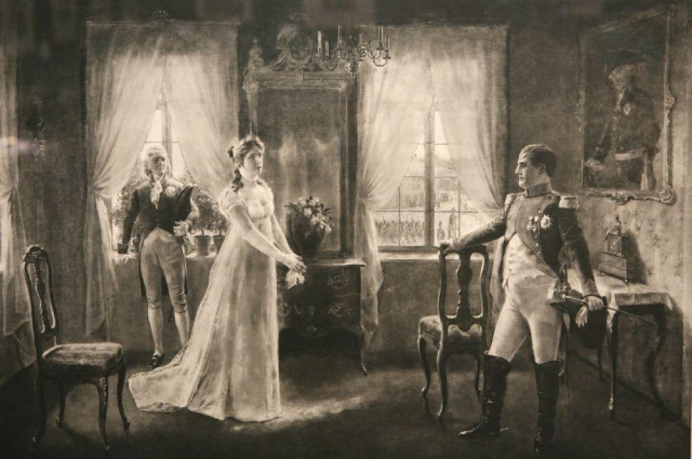 Наполеон и Луиза в Тильзите.