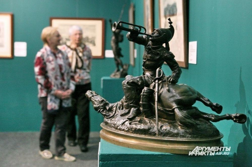 """Скульптура """"Солдат на раненой лошади"""", Франция."""