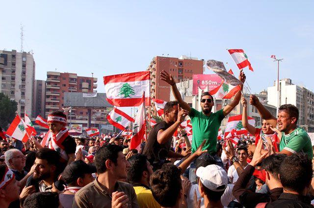 Протесты в Ливане.
