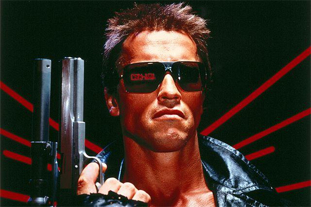 Фрагмент постера фильма «Терминатор», 1984 год.