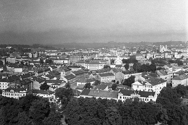 Вид на город Вильнюс.