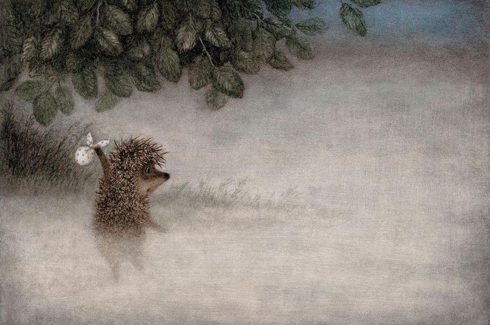 «Ежик в тумане» (1975), рейтинг 8,2. Культовый мультфильм Юрия Норштейна про то, как по вечерам Ежик ходил к Медвежонку в гости считать звезды.