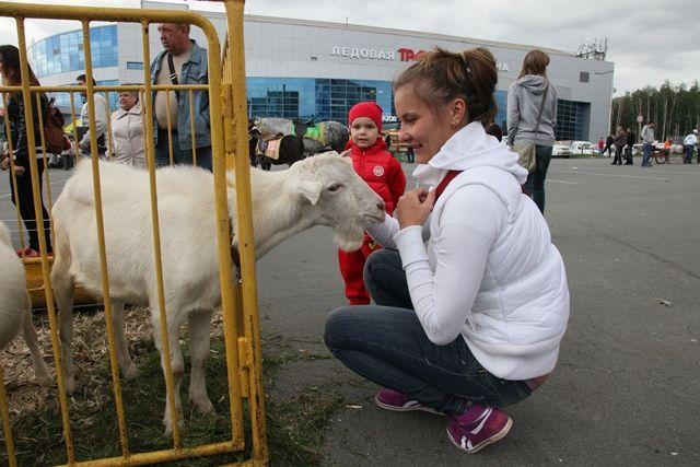 Каждый год выставка «Агро» привлекает огромное количество посетителей, в том числе и юных.