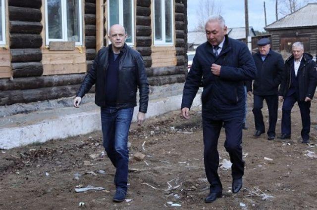 Сергей Сокол в Боханском районе.
