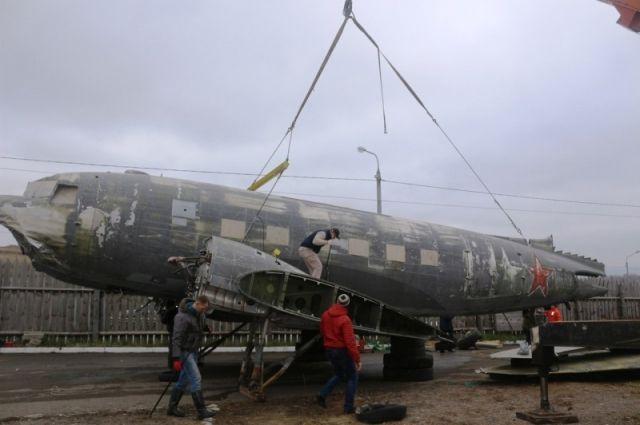 Самолет, потерпевший крушение в годы ВОВ на межатлантической трассе.