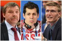 Олег Знарок, Евгений Малкин и Андрей Кириленко.