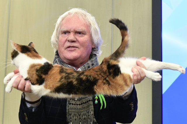 Народный артист РСФСР, создатель и художественный руководитель Театра кошек Юрий Куклачев.