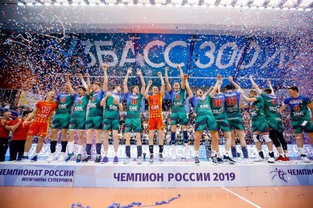 ВК «Кузбасс» является действующим чемпионом России.