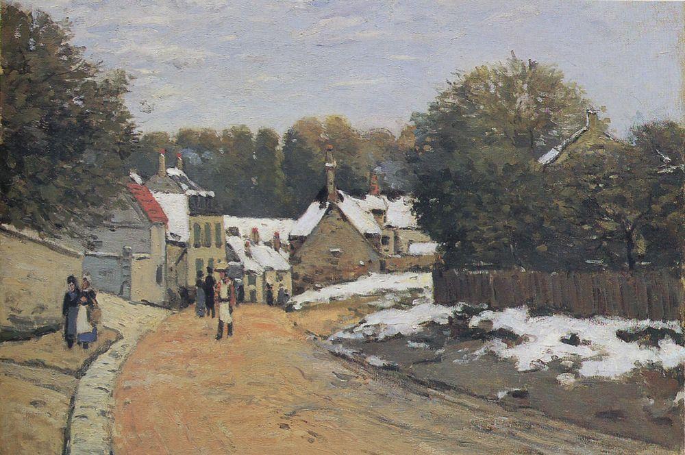Ранний снег в Лувесьенне. 1871-1872.