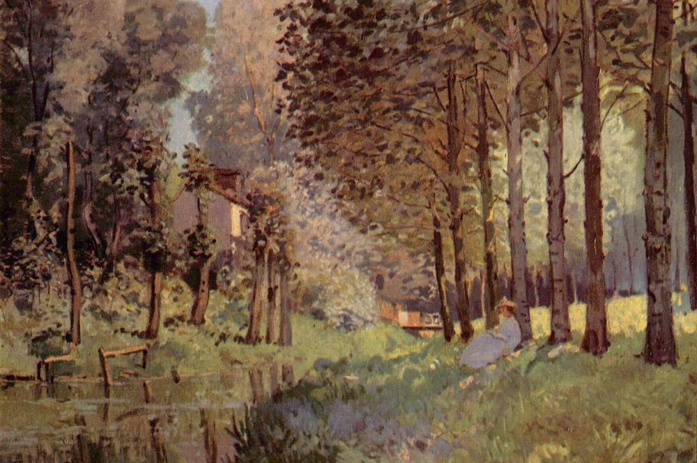 Отдых у ручья на краю леса. 1878.