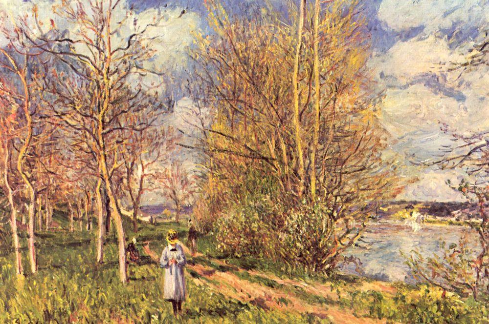 Лужайки весной. 1880-1881.