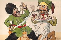 Английские карикатуристы чаще всего изображали Суворова в виде гигантского людоеда.