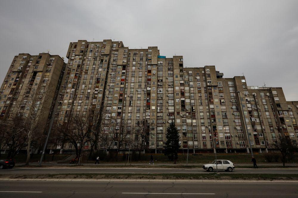 Жилой район в Нови-Београд, Сербия.