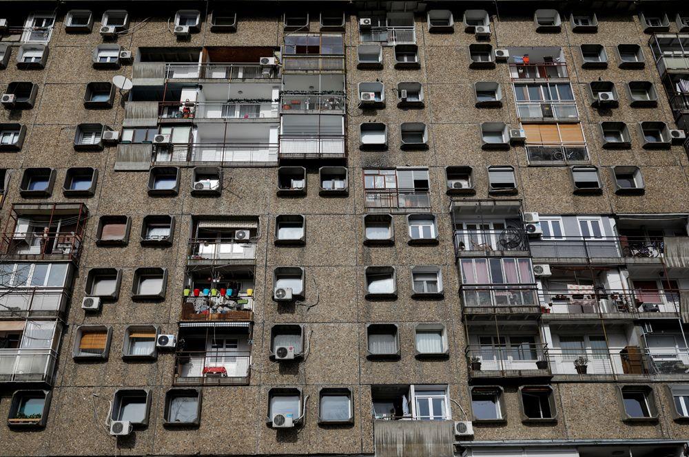 Жилое здание в 28-м квартале в Новом Белграде, Сербия.