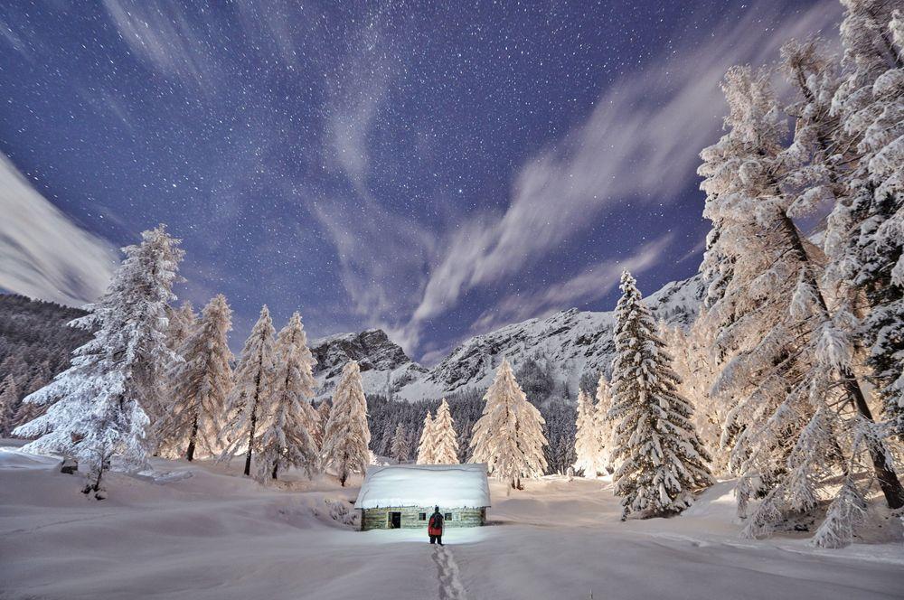 Природа Словении зимой.