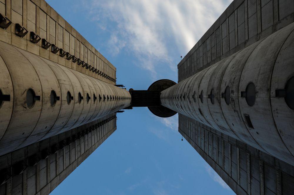 Башня Генекс или Западные ворота Белграда, Сербия.