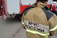 На месте работало семеро пожарных и две единицы техники.