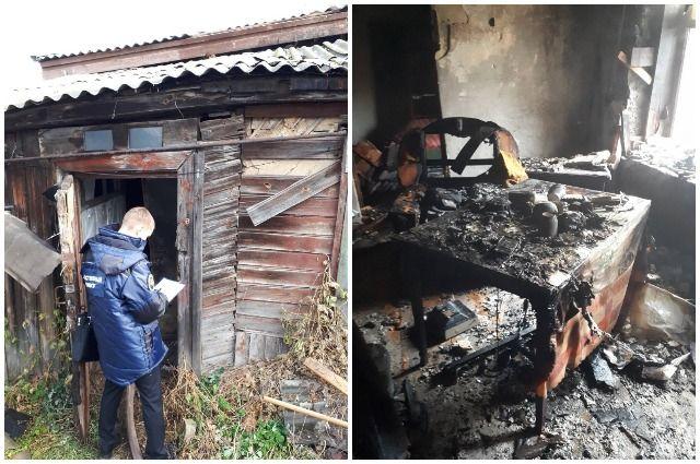 Следователи осмотрели место пожара.