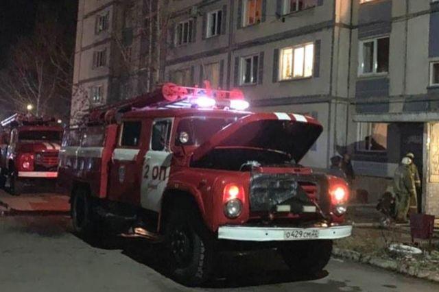 Пожар в многоэтажке Бийска