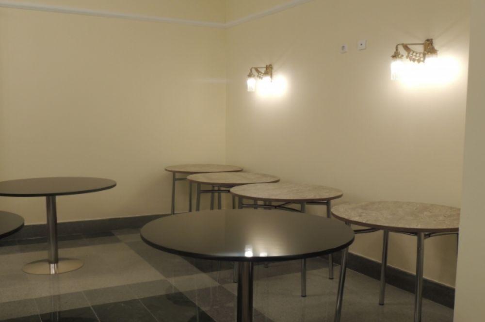 А здесь планируется организовать музейное кафе.