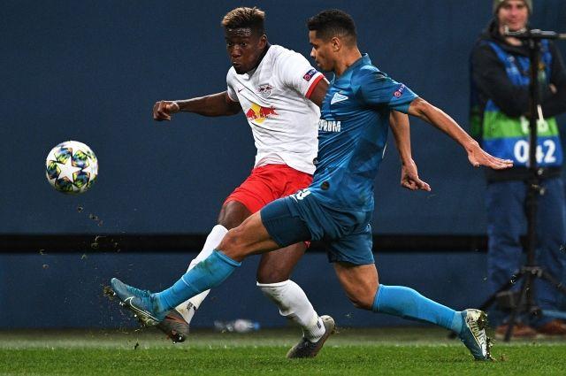 «Зенит» вновь уступил «Лейпцигу» в матче Лиги чемпионов