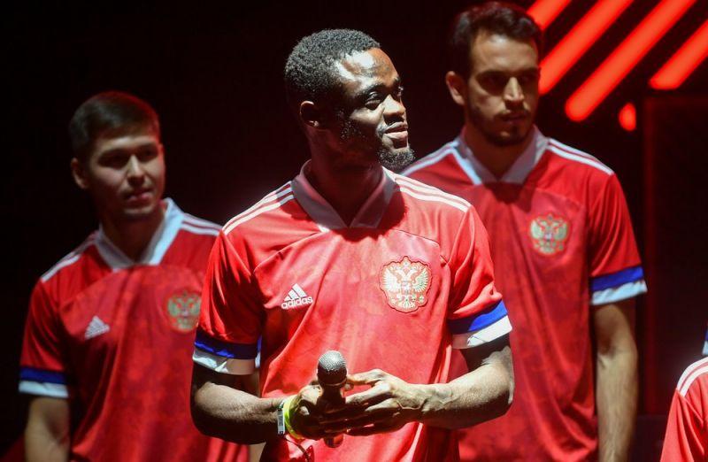 Участники церемонии представления формы сборной России к чемпионату Европы по футболу 2020.