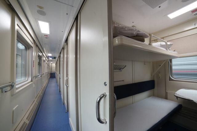 Стало известно, как выглядит интерьер поездов дальнего следования «Таврия»