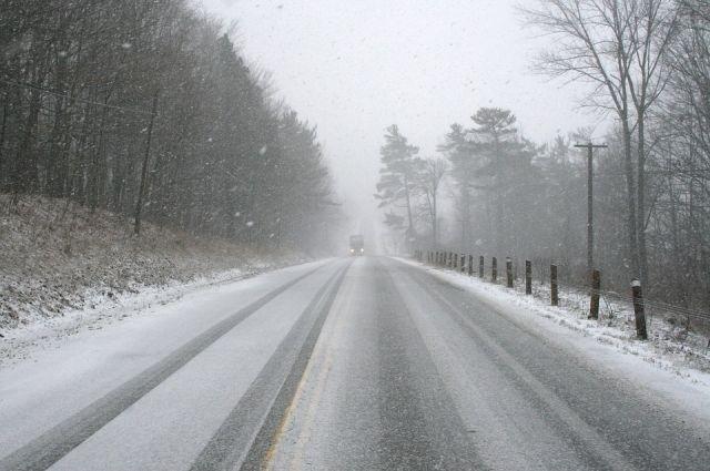 Трассы замело снегом.