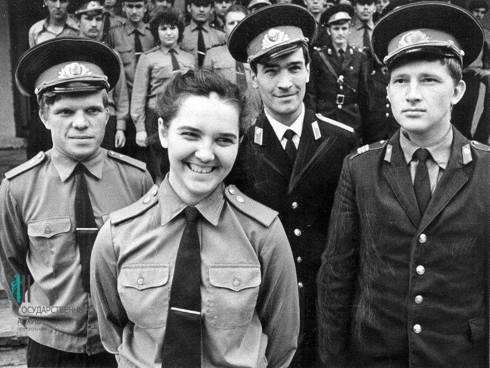 Выпуск березниковской школы милиции, 1979 год.